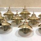 Nautical Marine Solid Brass Passageway Bulkhead Pendant Ship Light with Shade 10 Pieces