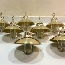 Nautical Marine Solid Brass Passageway Bulkhead Pendant Ship Light with Shade 7 Pieces