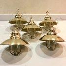 Nautical Marine Solid Brass Passageway Bulkhead Pendant Ship Light with Shade 5 Pieces