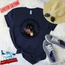 Black Cat I Like Coffee And Books And Maybe 3 People Short Sleeve T-shirt