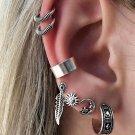 7-Ear Drop Hoop W/ Cuffs Earring Set