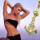Navy Ships Anchor Navel Ring  -2 Colors Available