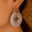 Mandela Dazzle Dangle Silver Earrings