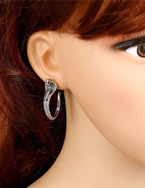 Cobra Snake Post Stud Earrings