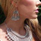 3 Asian Coin Dangle Earrings Silver