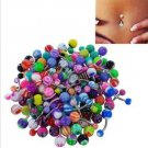 Colorful Navel Belly Ring Stainless Steel