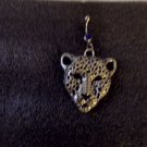 Silver Head Cougar Navel Ring