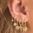 7- Gold Post & Hoop Loop Earrings