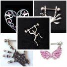 WOW 5 Pairs Nipple Bars & Shields As Pictured