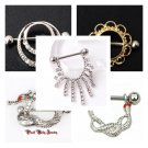 Great Deal 5 Pairs Nipple Bars As Pictured