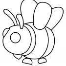 Bee (Neon Fly Ride) Coloring Page