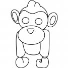 Albino Monkey (Fly Ride) Coloring Page