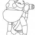 Ninja Monkey (Neon Fly Ride) Coloring Page