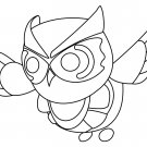 Snow Owl (Neon Fly Ride) Coloring Page
