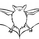 Bat (Neon Only) Coloring Page
