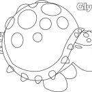 Glyptodon (Neon Fly Ride) Coloring Page