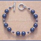 Swarovski MIDNITE BLUE PEARL & CRYSTAL TOGGLE BRACELET