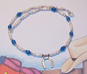 Southwest WOOD & TURQUOISE Horseshoe Necklace
