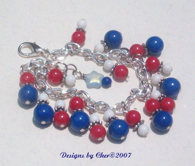 CELEBRATE! Red White Blue Bracelet