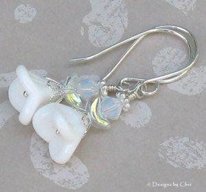 Snow Angels... Sterling Silver Earrings, So Sweet