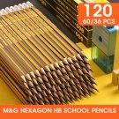 &G 36/60/120pcs Hexagon Pre-sharpened HB School Pencils with Eraser