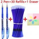33 Pcs/Set Erasable pens Gel Pen Washable Handle cute School Writing Stationery