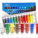 36/24/Color Acrylic Paint Set Beginner Drawing Brushes Watercolor Paints