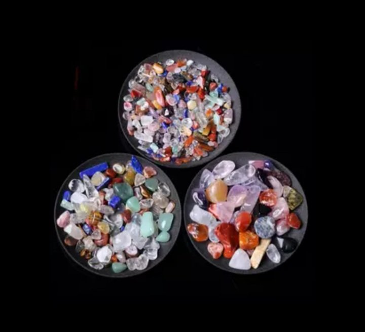50g 3 Sizes Natural Mixed Quartz Crystal Stone Rock Gravel Specimen Tank Decor Natural stones