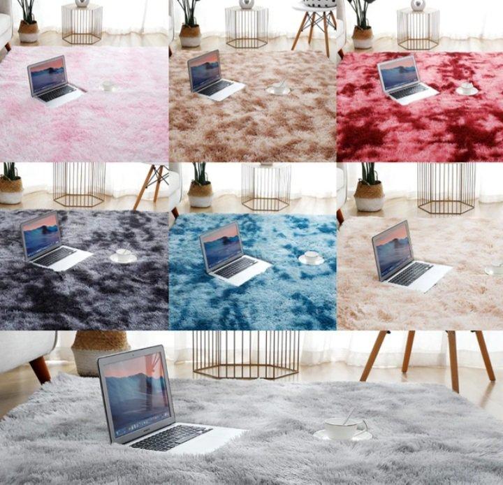 Thick Carpet for Living Room Plush Rug  Fluffy Floor Carpets Home Decor Rugs Soft Velvet Mat