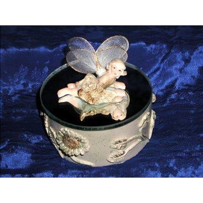 FAIRY MAGIC WISH MIRROR TRINKET RING AND NECKLACE GIFT FANTASY ART JEWELRY BOX - StyleB