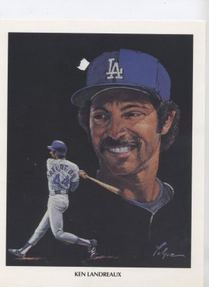 KEN LANDREAUX DODGERS BASEBALL ALL STAR SPORTS POSTER