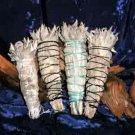 White Sage 4 Lg. California Desert Smudge Wands / Meditation, Ceremonies, Powwow, Holistic Incense