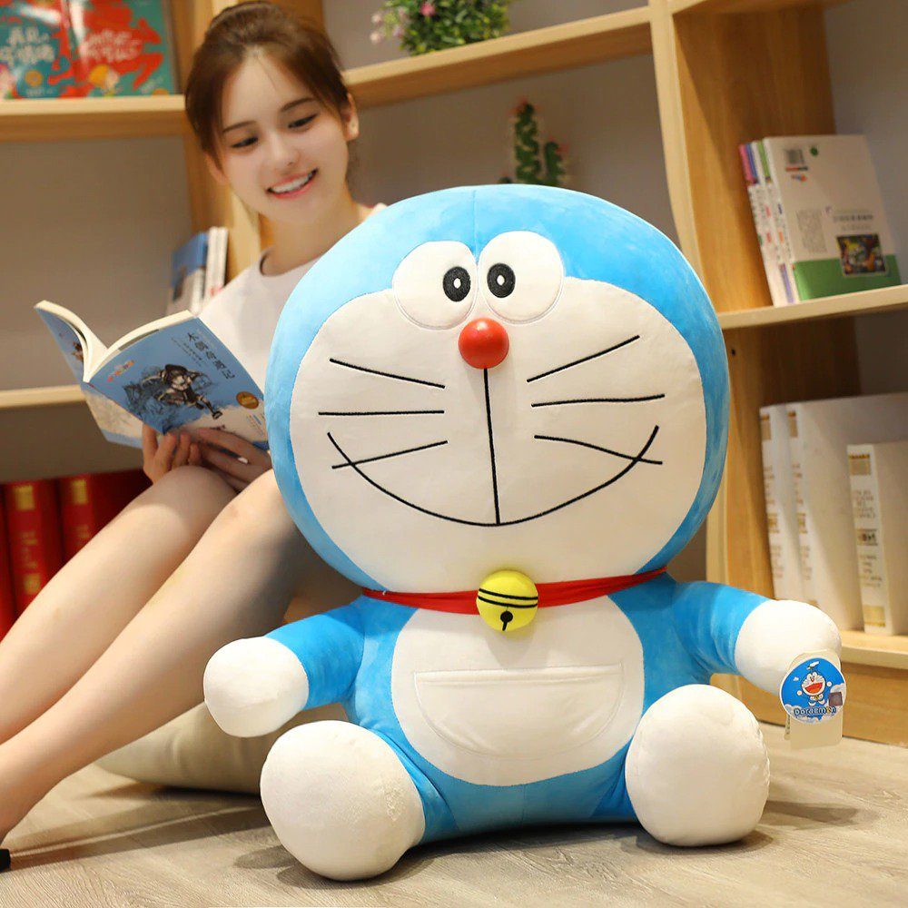 Doraemon Plushy Toys Cute Soft Stuffed Bedroom Decoration Doll Birthday Gift For Kids and Adults
