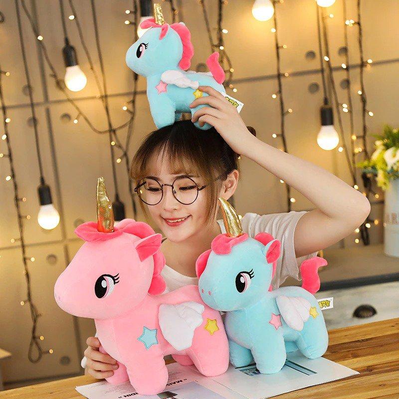 Soft Unicorn Plushy Cute Sleeping Pillow Doll Animal Stuffed Plush Toy Birthday Gift Plushies Toys