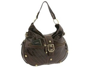 Hot Brown Leatherette Zipped Handbag