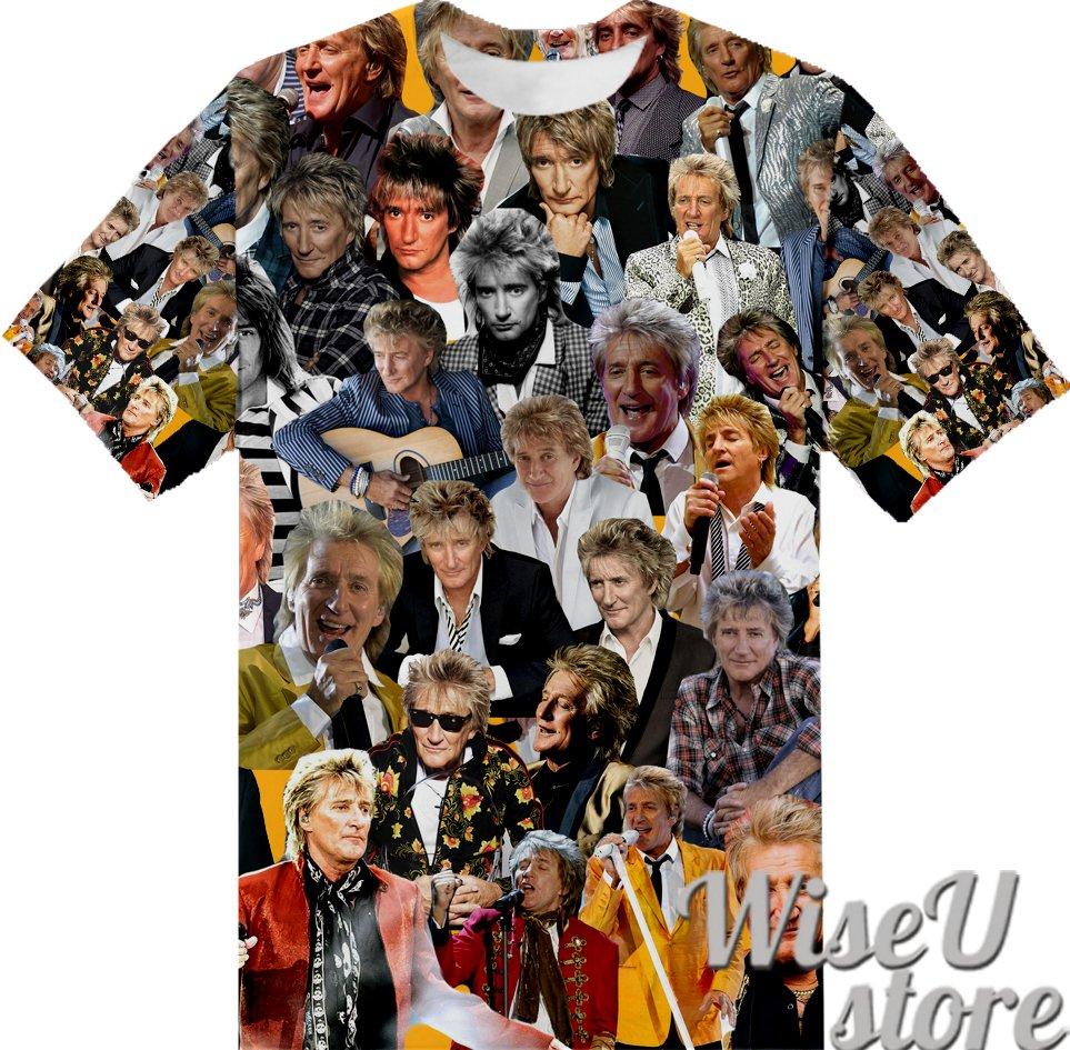 Rod Stewart T-SHIRT Photo Collage shirt 3D
