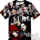 Marilyn Manson T-SHIRT Photo Collage shirt
