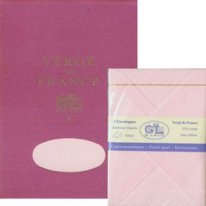 G Lalo Pink Rose Writing Tablet with Envelopes