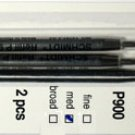 Parker Style Ballpoint Ink Refill Blue Medium Point 2 Pack