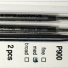 Parker Style Ballpoint Ink Refill Green Medium Point 2 Pack