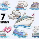 Cruise Ship Digital Art SVG, PNG, dxf, jpg Digital Download