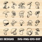 Mushroom Digital Art SVG, PNG, dxf, jpg Digital Download