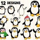 Penguin Digital Art SVG, PNG, dxf, jpg Digital Download