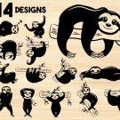 Sloth Digital Art SVG, PNG, dxf, jpg Digital Download
