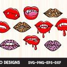 Vampire lips Digital Art SVG, EPS, PNG, dxf, jpg Digital Download