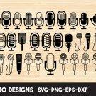 Microphone clipart Digital Art SVG, PNG, EPS, dxf, jpg Digital Download