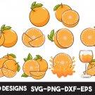 Orange bundle Digital Art SVG, PNG, EPS, dxf, jpg Digital Download