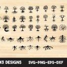 Tree with Roots Digital Art SVG, PNG, EPS, dxf, jpg Digital Download