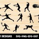 Tennis bundle Digital Art SVG, PNG, EPS, dxf, jpg Digital Download