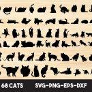 Cat bundle Digital Art SVG, PNG, EPS, dxf, jpg Digital Download